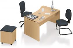 Bureau vague asymétrique            L.140 x P.100/80 cm