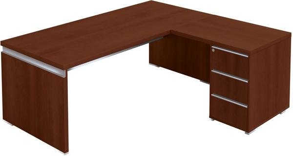 bureau direction 200 x 90 cm avec retour caisson porteur artprog. Black Bedroom Furniture Sets. Home Design Ideas