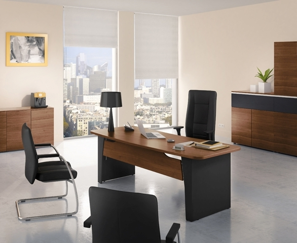 bureau cintr 200 x 90 cm artprog. Black Bedroom Furniture Sets. Home Design Ideas